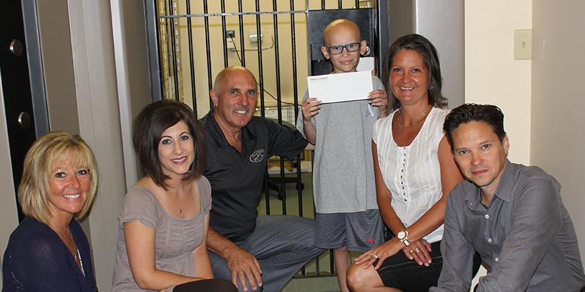 Adam Egerter _ Thorold Community Credit Union donation
