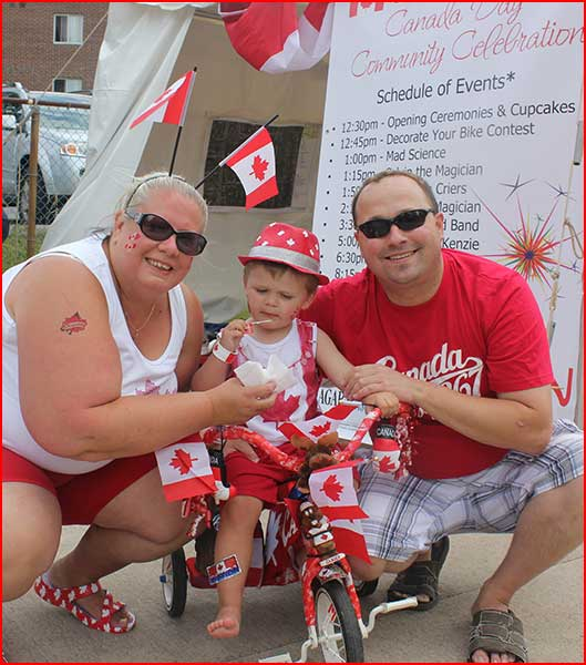 Thorold Celebrates Canada Day with bike decorating contest