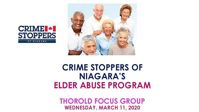 Crime Stoppers Elder Abuse Program - Thorold Focus Group