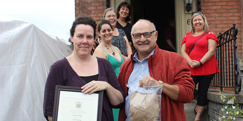 Downtown Thorold Market grand opening Carrie Cottage