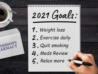 Health Goals 2021 Henderson's Pharmacy Thorold