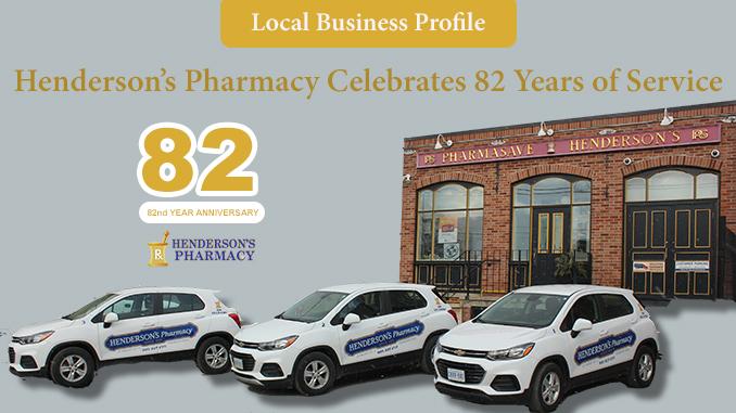 Henderson's Pharmacy 82 Years Service Thorold