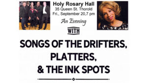An Evening with Songs of The Drifters - Platters - Ink Spots @ Holy Rosary Hall