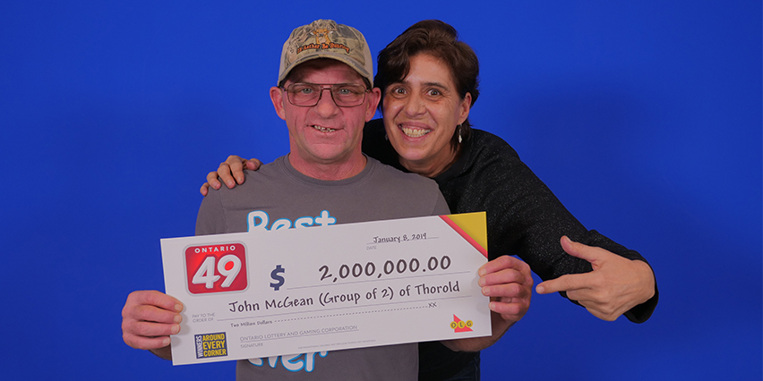 Thorold couple John McGean Shelly Maiuk Win $2-million lottery jackpot