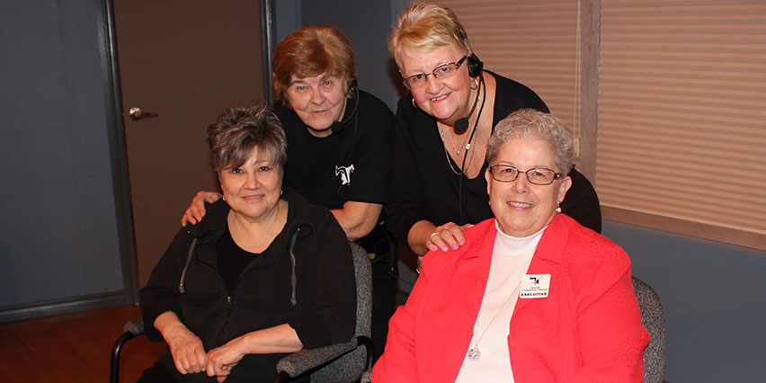 Sandy, Jenny, Elizabeth & Marilyn and Thorold community theatre Office Hours