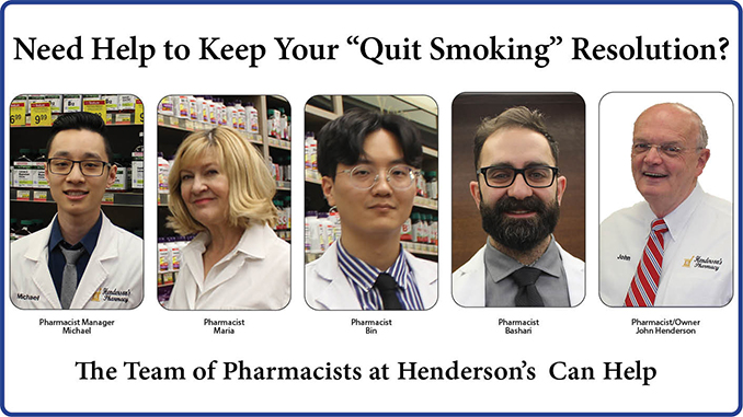 Quit smoking help Henderson's Pharmacy