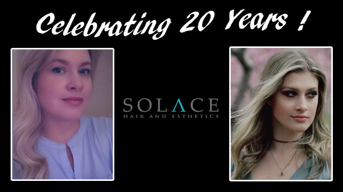 Solace Hair Esthetics 20th anniversary