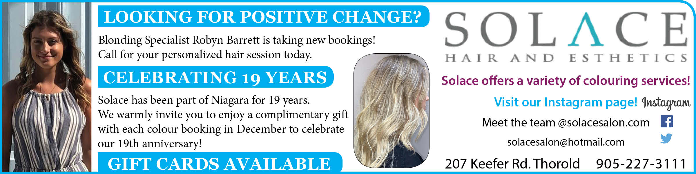 Solace Hair and Esthetics MY Thorold