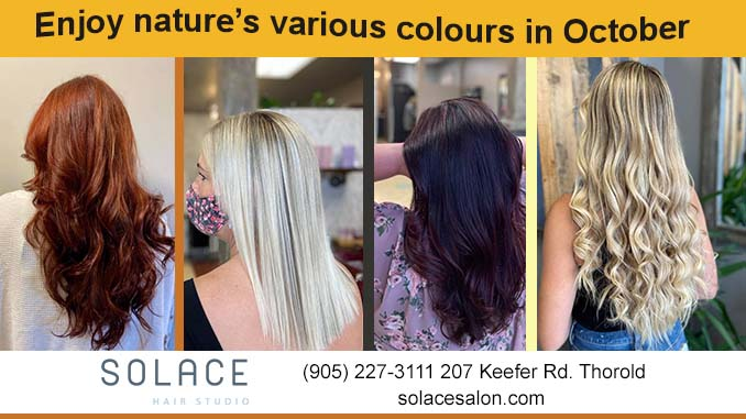 Solace Hair Studio October colours Thorold