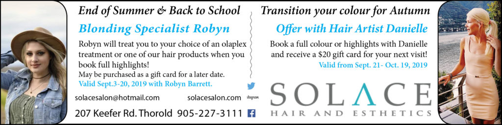 Solace Hair and Esthetics MY Thorold September 2019