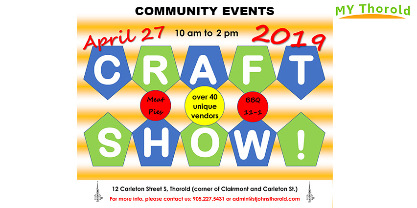 St Johns craft show 2019 My Thorold events