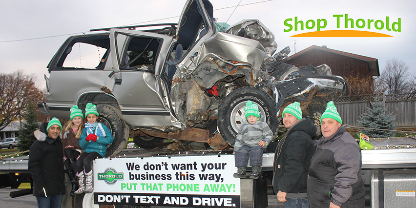 Thorold Auto Parts promotes-public safety awareness