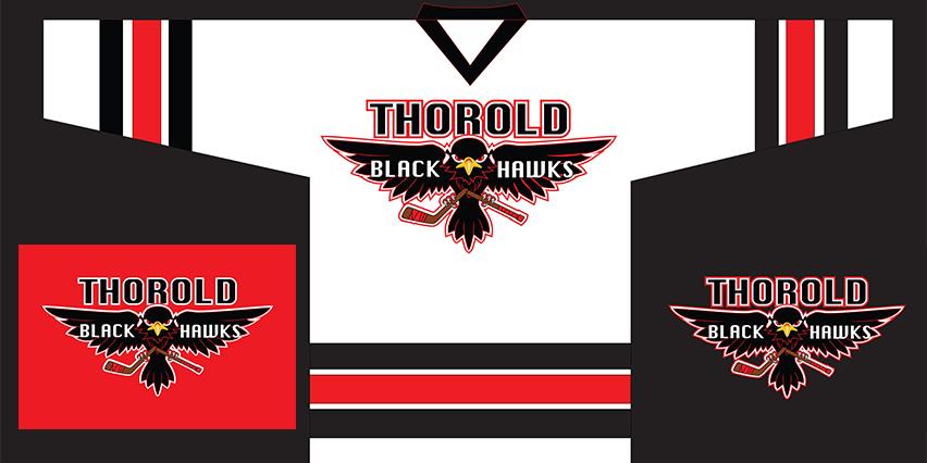 Thorold Blackhawks new logo jersey