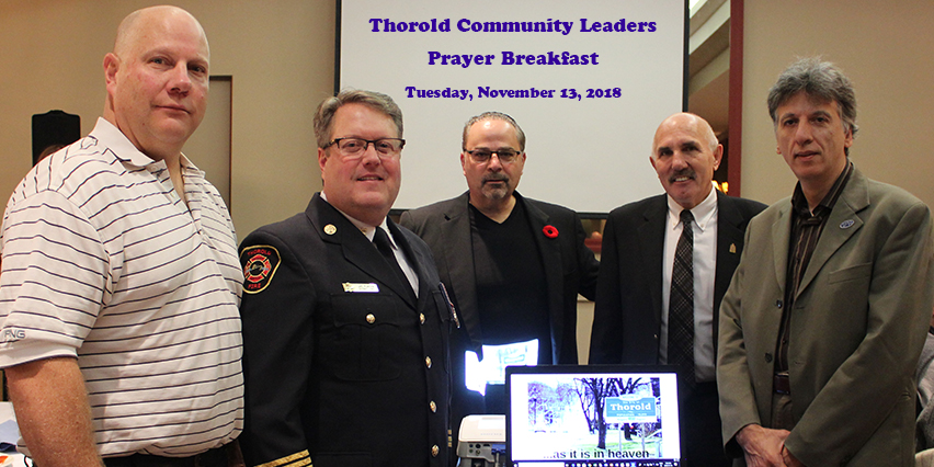 Thorold Community Leaders Prayer Breakfast - city group