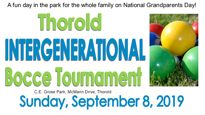 Thorold intergenerational bocce tournament event
