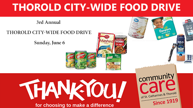 Thorold City Wide Food Drive June 2021