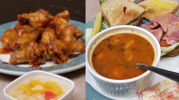 hanas corned beef sandwich - chicken wings