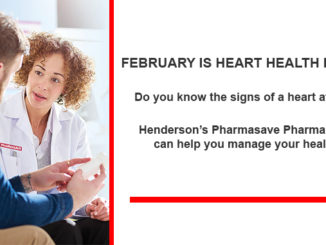 heart health month Thorold pharmacists