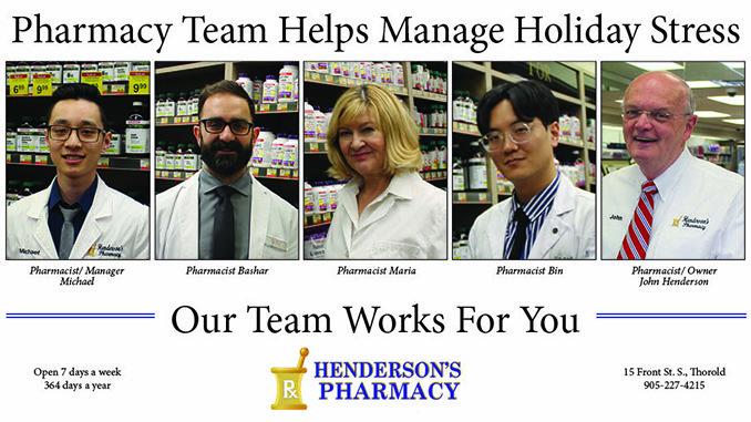 Henderson's pharmacy team - advice manage holiday stress