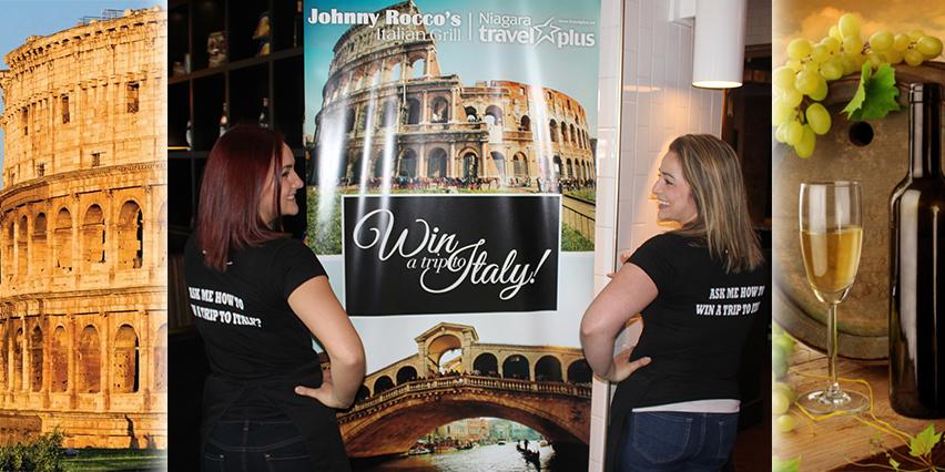 Johnny Roccos Italian Grill win trip to Italy