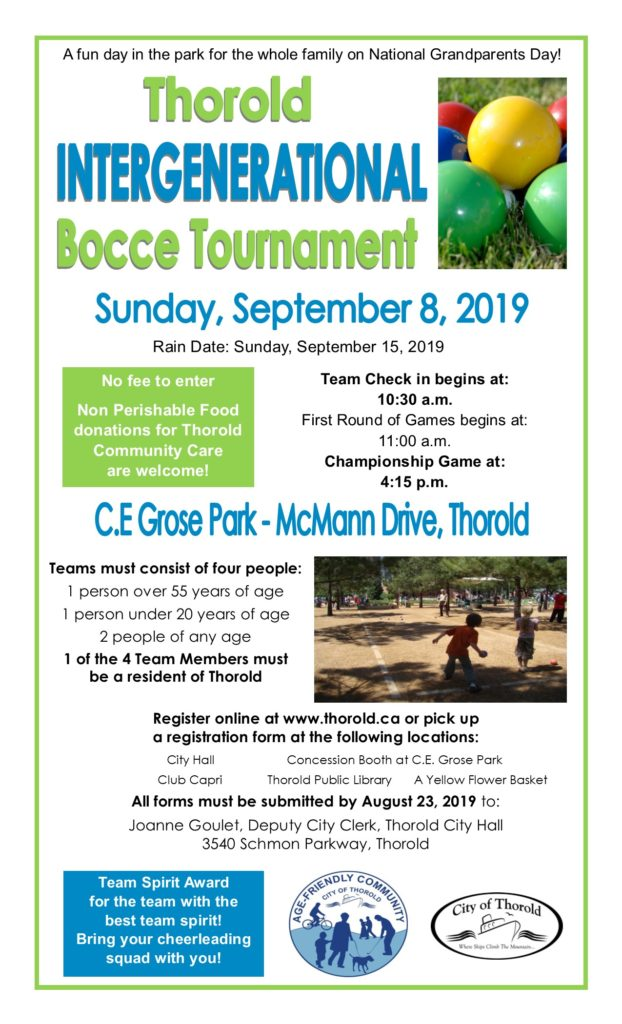 thorold bocce tournament poster